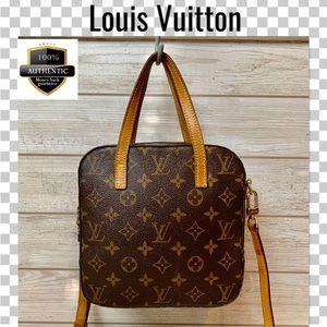 Louis Vuitton crossbody bag satchel spontini brown